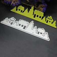 Christmas Tree House Cutting Dies Stencil Scrapbook Paper Cards Craft Embossing