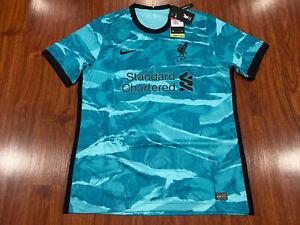 2020-21 Men's Nike Breathe Liverpool Third Soccer Jersey Large L YNWA