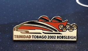Salt Lake City 02 19th WINTER OLYMPIC GAMES Trinidad Tobago Bobsled NOC Team Pin