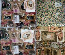 Decoupage Lot 1983 Victorian Dolls Vintage Wrapping Paper, Scrapbook, Antique