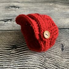 Newborn Baby BoyNewsboy Hat Crochet photo prop Gift.