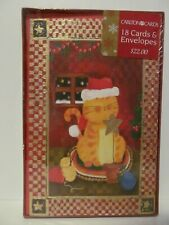 American Greetings Cat Holiday Cards Christmas 18 Cards Envelopes New Sealed