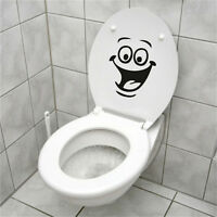 Smiley Face WC Toilet Decal Wall Mural Art Decor Funny Bathroom Sticker Viny JH