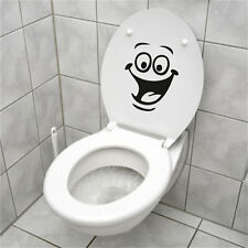 Smiley Face WC Toilet Decal Walls Mural Art Decor Funny Bathrooms Sticker Vinyl