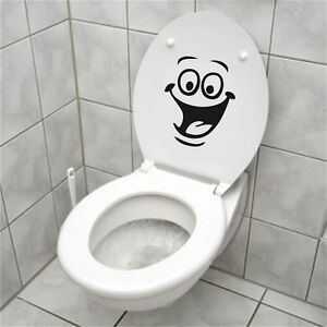 Face WC Toilet Decal Wall Mural Art Decor Funny Bathroom Sticker Viny ¾cHM
