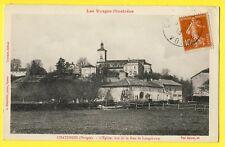 cpa 88 - CHÂTENOIS (Vosges) L'ÉGLISE Saint Pierre vue de la RUE de LONGCHAMPS