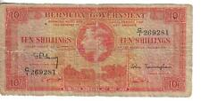 BERMUDA, 10 SHILLINGS, P#10b, KGVI, 1937