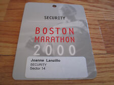 104th Boston Marathon April 2000 Finish Line Laminated Security Badge