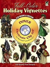 Dover Book & CD -  FULL-COLOR HOLIDAY VIGNETTES 330 Images on CD