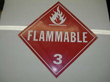 """PEEL & STICK FLAMMABLE SAFETY SIGNS 10 3/4"""" X 10 3/4"""""""