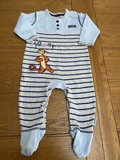 Cute Baby Boys Disney Tigger Baby Grow Sleepsuit 3-6 Months George Hardly Worn