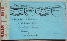 SOUTH AFRICA 1943 CENSORED COVER WITH No 7 MOTOR BOAT FLIGHT FREE CACHET