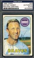 Wayne Causey PSA DNA Coa Autograph 1969 Topps Hand Signed