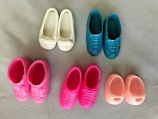 """Pinks Blues Whites 1"""" Barbie Doll Shoes & Boots Assortment - Lot of 5 Pairs"""