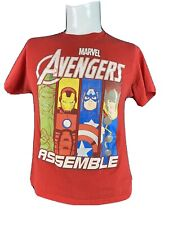 Avengers Assemble Marvel and Superman T-Shirts, Red and Blue, Size Youth Large
