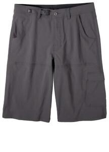 "Men's prAna Stretch Zion 12"" Shorts - Size 34 - Charcoal"