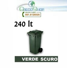 Cassonetto/Pattumiera/Contenitore/Bidone per raccolta rifiuti 240lt Verde scuro