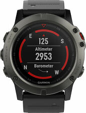 Garmin Fenix 5X Sapphire Multisport GPS Heart Rate Monitor Watch 010-01733-00