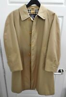 Men's Burberrys' Single Breasted Trench Coat Nova Check Lining England sz 40 R