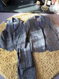 Cavani Men's Vintage Herringbone Check 3 Piece Suit - Peaky Blinders