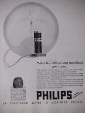 PUBLICITÉ DE PRESSE 1933 POSTE SUPER INDUCTANCE PHILIPS - ADVERTISING