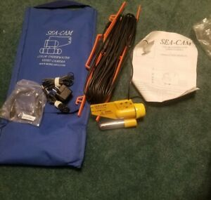 Video Camera Fish Finder Under Water Color with 66 Ft Cable SEA CAM BOREL MFG.