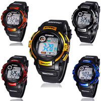 Kids Children Digital LED Quartz Alarm Date Sports Army Wrist Watch Waterproof