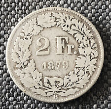 Switzerland 1879 2 Francs Silver Very Nice Coin LJ