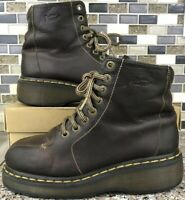 Dr Martens Brown Leather Boots Mens Size 6 Womens 7 UK 5 EU 38 Brown Boots 3A55
