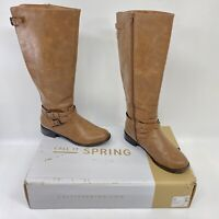 Call It Spring Mirilise Round Toe Knee High Riding Womens Boots Brown Size 10 US