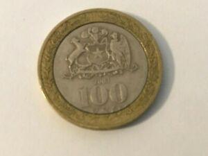 2003 MEXICO 100 PESOS SILVER BIMETALLIC- used / circulated