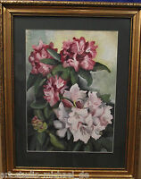 """Norddeutsche Künstler:Ingeborg Schwonke-Harding """"Rhododendron"""", Aquarell, 1948"""