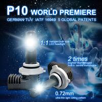 2X HB3/9005/H10 LED Phare de Voiture Kit Ampoules Conversion 6500K 100W 20000LM