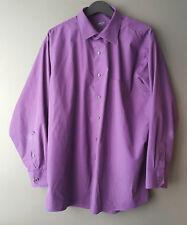 """Arrow Men's Classic Fit Dress Shirt Size 17.5"""" 32/33 Poplin Purple Wrinkle Free"""