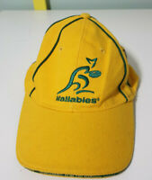 BUNDABERG RUM HAT WALLABIES YELLOW TRI NATIONS RUGBY FOOTBALL