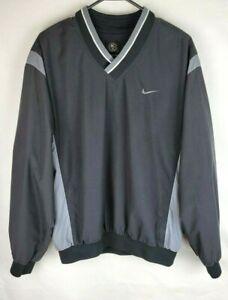Nike Golf Medium Black Wind Water Resistant Pullover V Neck Windbreaker Jacket
