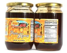 2 Jars Field Harvest 100% Pure Natural Honey Product of Greece Net Wt 30 oz 850g