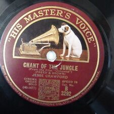 78 rpm JESSE CRAWFORD chant of the jungle / tip toe through the tulips with me