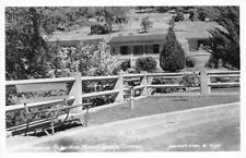 RPPC Richardson Mineral Springs, CA Roadside Cottages Eastman's Postcard c1940s