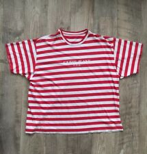 Vintage Guess Jeans USA Striped Red/White T-Shirt