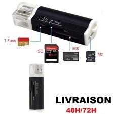 Lecteur multi-cartes mémoire USB 2.0 Connecteur Micro SD / TF M2 MMC SDHC MS Duo