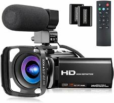 Video Camera Full HD 1080P 30FPS 24MP YouTube Camera Camcorder 3.0 Inch 270° Rot
