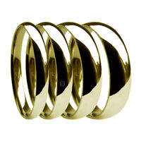9ct Yellow Gold Heavy Court Wedding Rings 2mm 3mm 4mm 5mm 6mm 8mm UK HM Bands
