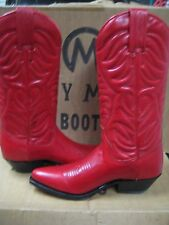 Tony Mora Womens Made in Spain Red  leather Western Boot 2472 Size 5.5 New