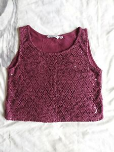 Girls Sparkly Belly Top Age 12-13 Years