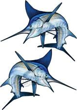 MARLIN x 2 - Mirrored Pair 500mm x 400mm - LARGE BOAT DECALS