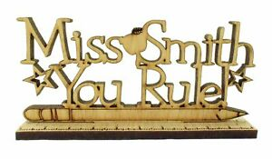Personalised You rule ruler, Teacher Gift Hanging Plaque Pre-School Home gift