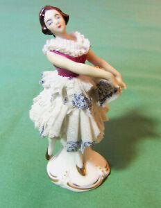 Ballerina Dancer Porcelain Dresden 11,5 CM