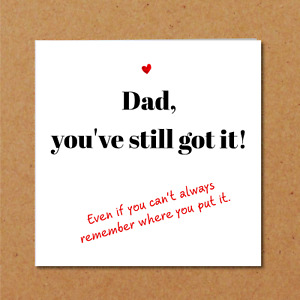 Funny Fathers Birthday Card cool trendy special happy Dad handmade fun