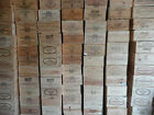 Wooden Wine Box Crate ~ 6 bottle ~ French, Genuine. Shabby Chic, Vintage.